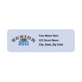 Clase mayor de 2011 etiqueta de remitente