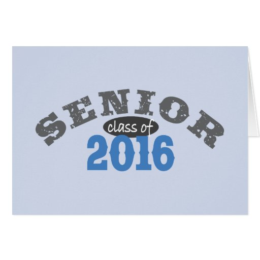 Clase mayor del azul 2016 tarjeta de felicitación