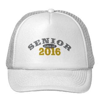 Clase mayor del oro amarillo 2016 gorras