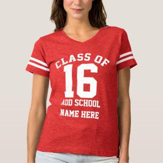 Clase mayor personalizada deporte de la escuela de camisas