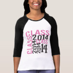 Clase mayor ROSADA enrrollada 2014 Camiseta