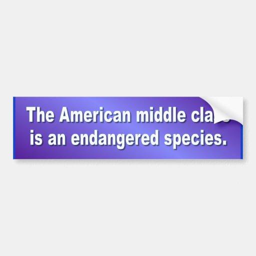 Clase media americana DE PARACHOQUES Pegatina Para Auto