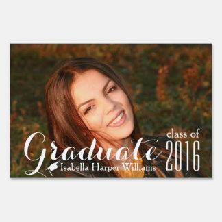 Clase moderna de la foto 2016 de la graduación letreros