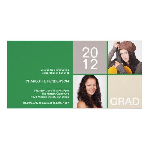 Clase moderna verde del bloque de invitación del g tarjeta personal