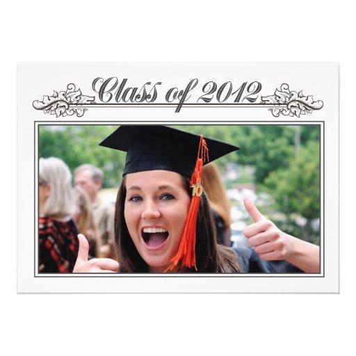 Clase negra y blanca del vintage de la graduación