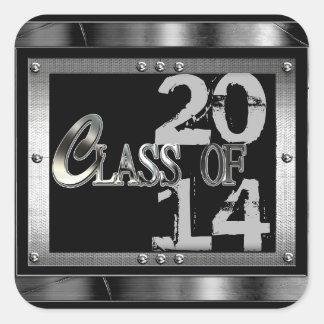 Clase negra y de plata de los pegatinas 2014 de la calcomanía cuadradas personalizadas