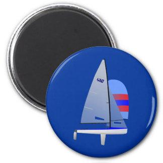 Clase olímpica del onedesign del velero que compit imán redondo 5 cm