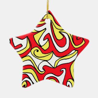 Clase productiva compuesta compuesta adorno navideño de cerámica en forma de estrella