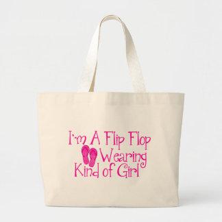 Clase que lleva del flip-flop de chica bolsa tela grande