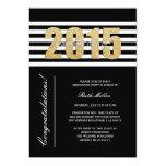 Clase rayada de la invitación 2015 de la invitación 12,7 x 17,8 cm