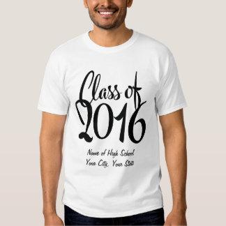 Clase retra del estilo de texto de 2016 camisas