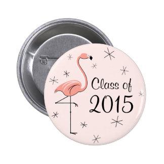 Clase rosada del flamenco del botón 2015 pin redondo de 2 pulgadas
