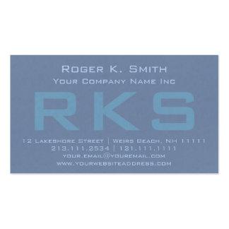 Clase texturizada verde elegante del monograma del tarjetas de visita