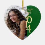 Clase verde de la graduación de 2014 ornamentos de reyes