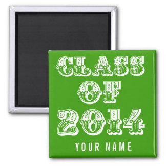 Clase verde del armario 2014 de la escuela de la g imanes de nevera