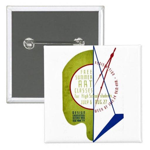 Clases de arte libres del verano - poster de WPA - Pin