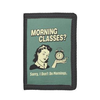 Clases de la mañana: No hago mañanas