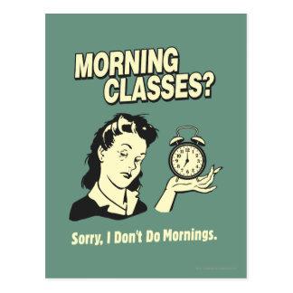 Clases de la mañana: No hago mañanas Postales
