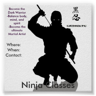 Clases de Ninja, donde: Whe… Póster