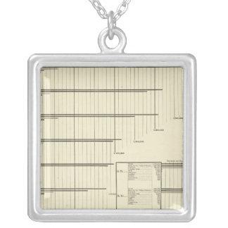 Clases por los estados en 1880 collar plateado
