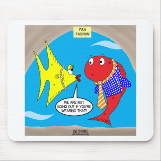 Clashing Fish Fashion Mouse Pad