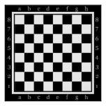 clasic chess table poster