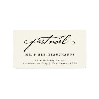 Clasic Handwriting Mr & Mrs 1st Noel Address Label