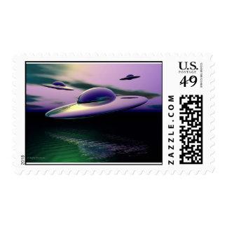 Clasic UFO Postage Stamp