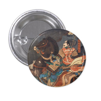 Clasic vintage ukiyo-e legendary samurai general pin