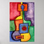 Clasical Guitar Print Posters