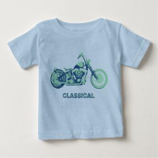 Clásico - azul-grn playera de bebé
