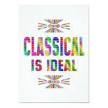 Clásico es ideal invitación 12,7 x 17,8 cm