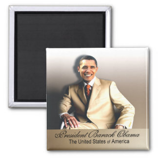 Clásico - presidente Obama Magnet Imán Cuadrado