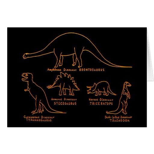 Clasificación del dinosaurio tarjeta de felicitación