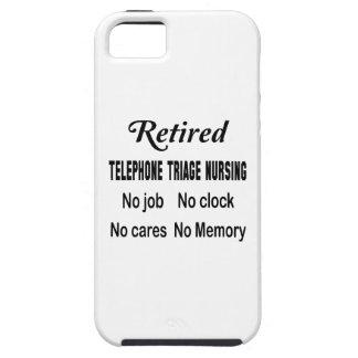 Clasificación jubilada del teléfono que no cuida funda para iPhone 5 tough