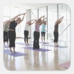 clasifique la yoga practicante con el instructor e etiquetas
