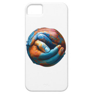 Clasped Hands Forming Planet Earth World Peace iPhone 5 Covers