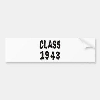 Class 1943 car bumper sticker