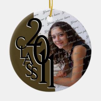 Class 2011 Graduation Photo Ceramic Ornament