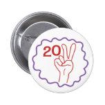 Class 2011 Peace Sign Buttons
