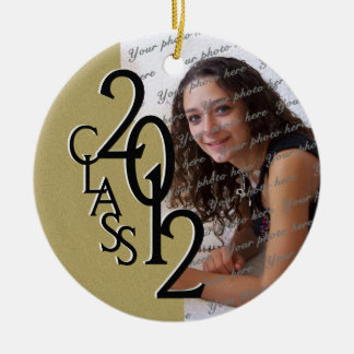 Class 2012 Graduation Photo Gold Ceramic Ornament