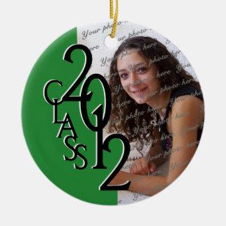 Class 2012 Graduation Photo Green Ornaments