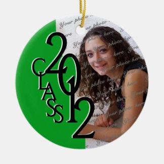 Class 2012 Graduation Photo Green Christmas Ornament