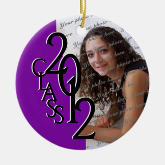 Class 2012 Graduation Photo Purple Ceramic Ornament