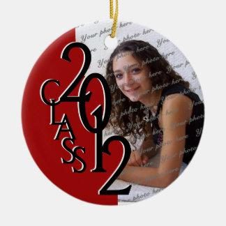 Class 2012 Graduation Photo Red Ceramic Ornament