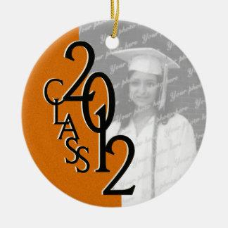 Class 2012 Orange Graduation Photo Ceramic Ornament