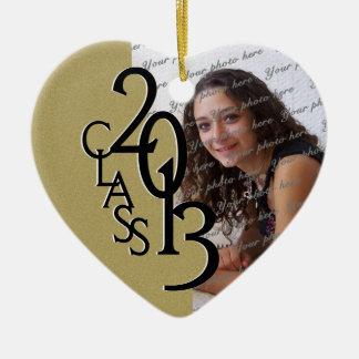 Class 2013 Graduation Photo Gold Ceramic Ornament