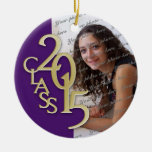Class 2015 Graduation Photo Purple Ceramic Ornament