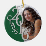 Class 2016 Graduate Photo Pine Ceramic Ornament