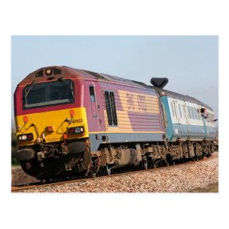 Class 67 diesel loco 67022 at Dawlish Warren Postcard